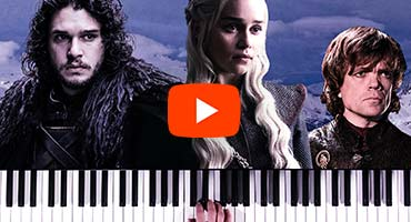 Tocando a música tema de Game of Thrones