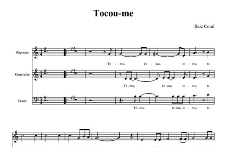Exemplo de partitura