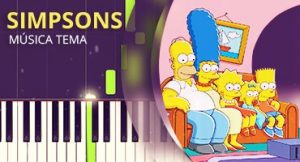 Como tocar tema de Simpsons no piano