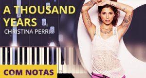 Como tocar A thousand years no piano