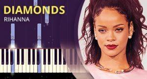 Como tocar Diamonds no Piano
