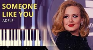 Como tocar Someone Like You no piano