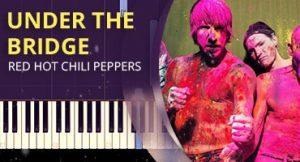 Como tocar Under the Bridge no piano