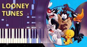 Como tocar tema de Looney Tunes no piano