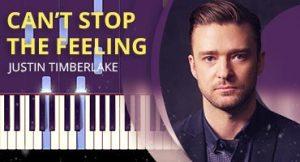 Como tocar Can't Stop the Feeling no piano