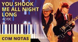 Como tocar You Shook me All Night Long no piano