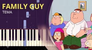 Como tocar tema de Uma Família da Pesada no piano