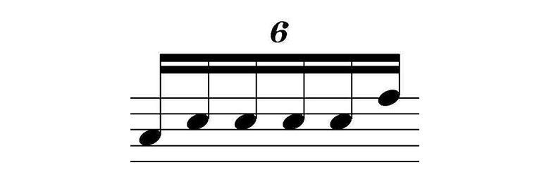 6 semicolcheias